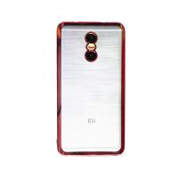Прозрачный силиконовый чехол для Xiaomi Redmi Pro с глянцевой окантовкойРозовый