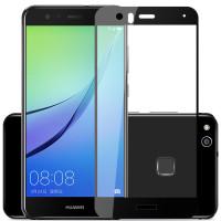Защитное цветное стекло Mocolo (CP+) на весь экран для Huawei P10 LiteЧерный