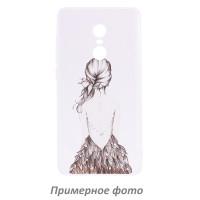 TPU чехол Cute Print для Meizu Pro 7Girl (dress back)