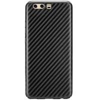 Пластиковая накладка T-phox Fiber series (карбон глянец) для Huawei P10Черный