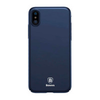 "TPU чехол Baseus Thin Case (one color) для Apple iPhone X (5.8"")Синий"