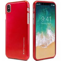 "TPU чехол Mercury iJelly Metal series для Apple iPhone X (5.8"")Красный"