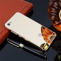 Металлический бампер с акриловой вставкой с зеркальным покрытием для Xiaomi Redmi Note 5A / Y1 LiteЗолотой