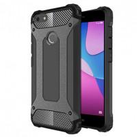 Бронированный противоударный TPU+PC чехол Immortal для Huawei Y6 Pro (2017) / P9 Lite Mini / Nova LiСерый / Metal slate
