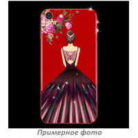 TPU чехол Magic Girl со стразами для Xiaomi Redmi 4XКрасный / Цветы