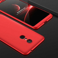 Пластиковая накладка LikGus 360 градусов для Xiaomi Redmi 5 Plus / Redmi Note 5 GlobalКрасный