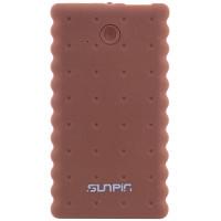 """Портативное зарядное устройство SunPin K50 """"Печенье"""" с фонариком (5000 mAh 1 USB 2A)Коричневый"""