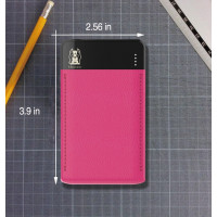 Портативное зарядное устройство Mezone Z6 Slim 14mm (6000mAh 2USB 2.4A) (+кабель MicroUSB)Розовый / Черный