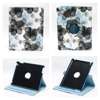 Чехол для Apple iPad 2, iPad 3 (New iPad), iPad 4 SPRING FLOWERS SWIVEL BLUE весенние цветы синие с поворотным механизмом