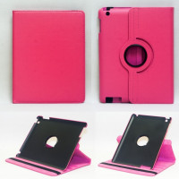 Чехол для Apple iPad 2, iPad 3 (New iPad), iPad 4 SWIVEL ROSE RED ярко-розовый с поворотным механизмом