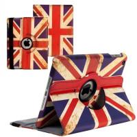 Чехол для Apple iPad 2, iPad 3 (New iPad), iPad 4 UNION JACK Британский флаг с поворотным механизмом