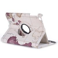 Чехол для Apple iPad mini 1, iPad mini 2, iPad mini 3 SWIVEL WORLD MAP BEIGHE карта мира, цвет бежевый с поворотным механизмом