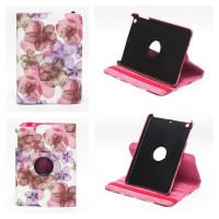Чехол для Apple iPad mini 1, iPad mini 2, iPad mini 3 SWIVEL SPRING FLOWERS ROSE RED Весенние цветы розовые с поворотным механизмом