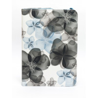 Чехол для Apple iPad mini 1, iPad mini 2, iPad mini 3 SWIVEL SPRING FLOWERS BLUE Весенние цветы синие с поворотным механизмом