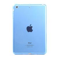 Чехол-бампер силиконовый бирюзовый прозрачный для планшета Apple iPad mini 1, iPad mini 2, iPad mini 3 BUMPER BLUE CLEAR