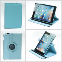 Чехол для Apple iPad mini 4 A1538 A1550 (iPad mini 4 Wi-Fi + Cellular) SWIVEL LIGHT BLUE бирюзовый с поворотным механизмом