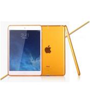 Чехол-накладка силиконовый оранжевый прозрачный для планшета Apple iPad mini 4 A1538 A1550 (iPad mini 4 Wi-Fi + Cellular) BUMPER ORANGE CLEAR