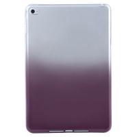 Чехол-накладка силиконовый коричневый градиентный прозрачный для планшета Apple iPad mini 4 A1538 A1550 (iPad mini 4 Wi-Fi + Cellular) BUMPER PURPLE GRADIENT CLEAR