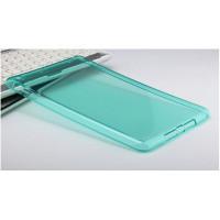 Чехол-накладка силиконовый бирюзовый прозрачный для планшета Apple iPad mini 4 A1538 A1550 (iPad mini 4 Wi-Fi + Cellular) BUMPER BLUE CLEAR