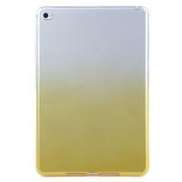 Чехол-накладка силиконовый желтый градиентный прозрачный для планшета Apple iPad mini 4 A1538 A1550 (iPad mini 4 Wi-Fi + Cellular) BUMPER PURPLE GRADIENT CLEAR