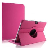 Чехол Samsung Galaxy Note 10.1 N8000 N8010 (2012 года) ярко-розовый поворотный
