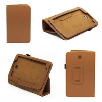 Чехол Samsung Galaxy Tab 3 7.0 T210 T211 P3200 коричневый книжка BROWN BOOK