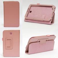 Чехол Samsung Galaxy Tab 3 7.0 T210 T211 P3200 розовый книжка PINK BOOK