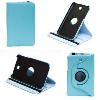 Чехол Samsung Galaxy Tab 3 7.0 T210 T211 P3200 BLUE SWIVEL бирюзовый с поворотным механизмом