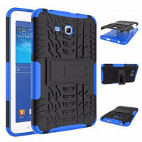 Чехол-бампер защитный Синий для планшета Samsung Galaxy Tab 3 Lite 7.0 t110 t111 t113 T116 BUMPER DARK BLUE SKELETON