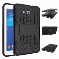 Чехол-накладка защитный черный для планшета Samsung Galaxy Tab 3 Lite 7.0 t110 t111 t113 T116 BUMPER BLACK SKELETON