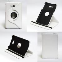 Чехол Samsung Galaxy Tab 3 Lite 7.0 t110 t111 t113 T116 SWIVEL WHITE белый поворотный