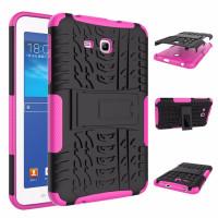 Чехол-бампер защитный розовый для планшета Samsung Galaxy Tab 3 Lite 7.0 t110 t111 t113 T116 BUMPER ROSE SKELETON