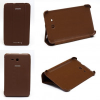 Чехол Samsung Galaxy Tab 3 Lite 7.0 t110 t111 t113 T116 BROWN THIN коричневый