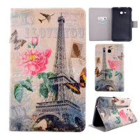 Чехол Samsung Galaxy Tab 3 Lite 7.0 t110 t111 t113 T116 PARIS BOOK рисунок: Париж, книжка