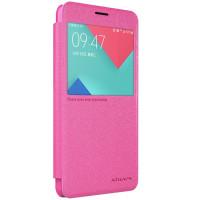 Чехол Nillkin SPARKLE FLIP ROSE для смартфона Samsung Galaxy A5 2016 SM-A510F РОЗОВЫЙ
