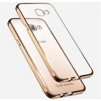 Силиконовый (TPU) Чехол-накладка для смартфона Samsung Galaxy A5 2016 SM-A510F С ЗОЛОТЫМ КРАЕМ