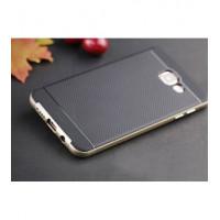 TPU+PC Чехол-накладка iPaky TPU+PC BLACK для смартфона Samsung Galaxy A5 2016 SM-A510F Цвет: ЧЕРНЫЙ, края - ЗОЛОТЫЕ