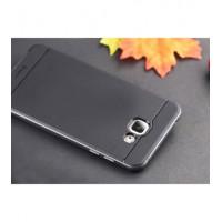TPU+PC Чехол-накладка iPaky TPU+PC BLACK для смартфона Samsung Galaxy A5 2016 SM-A510F Цвет: ЧЕРНЫЙ, края - СЕРЫЕ
