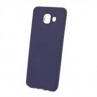 Силиконовый (TPU) Чехол-накладка с металлической вставкой iFace для смартфона Samsung Galaxy A5 2016 SM-A510F Цвет: СИНИЙ