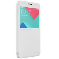 Чехол Nillkin SPARKLE FLIP WHITE для смартфона Samsung Galaxy A5 2016 SM-A510F БЕЛЫЙ