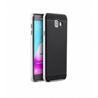 TPU+PC Чехол-накладка iPaky TPU+PC BLACK для смартфона Samsung Galaxy A5 2016 SM-A510F Цвет: ЧЕРНЫЙ, края - СЕРЕБРИСТЫЕ