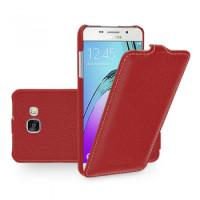 КОЖАНЫЙ Чехол-Флип TETDED FLIP RED для смартфона Samsung Galaxy A5 2016 SM-A510F Цвет: КРАСНЫЙ