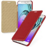 КОЖАНЫЙ Чехол-Книжка TETDED BOOK RED для смартфона Samsung Galaxy A5 2016 SM-A510F Цвет: КРАСНЫЙ