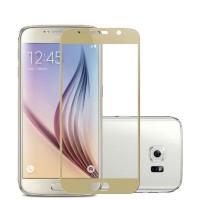 Защитное стекло с цветной рамкой для экрана смартфона Samsung Galaxy A5 2017 A520F Цвет: ЗОЛОТОЙ