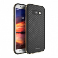 TPU+PC Чехол-накладка iPaky TPU+PC BLACK для смартфона Samsung Galaxy A5 2017 SM-A520F Цвет: ЧЕРНЫЙ, края - ЗОЛОТЫЕ