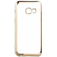 Прозрачный Силиконовый (TPU) Чехол-накладка для смартфона Samsung Galaxy A5 2017 SM-A520F с Золотой окантовкой