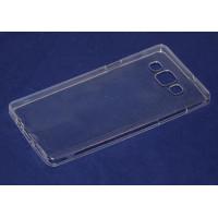 Чехол-бампер силиконовый для смартфона Samsung Galaxy A8 SM-A800F прозрачный