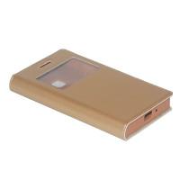 Чехол BRUM FLIP GOLD для смартфона Samsung Galaxy J1 SM-J105F Цвет: золотой
