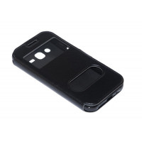 Чехол FASHION FLIP BLACK для смартфона Samsung Galaxy J2 SM-J200F черный