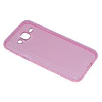 Чехол-бампер силиконовый для смартфона Samsung Galaxy J2 SM-J200F Цвет: розовый